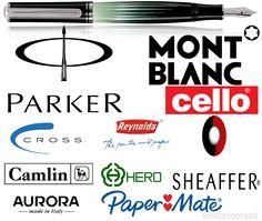 Top 10 Pen Brands in World - Best Selling Pen Companies Pen Brands, Good Company, Fountain Pen, Hero, World, How To Make, Popular, Tops