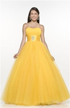 Ball Gown Strapless Beading Floor-length Sweet 16 #Dress Style Code: 05645 $119