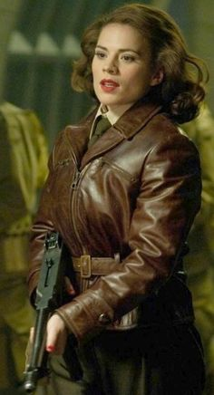 Hayley Atwell as Peggy Carter in 'Captain America: The First Avenger' (2011). Costume Design by Anna B. Sheppard.