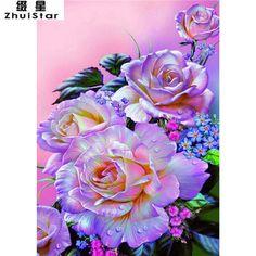 5D DIY Diamond Painting Illuminated Roses - Craft Kit