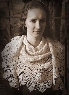 Treble Fantasy - free wide crescent crochet shawl pattern  by Michele DuNaier