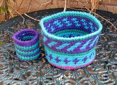 crochet baskets, bowl, tapestri crochet, chunki tapestri, color, basket pattern, basket crochet, chunki wool, crochet patterns