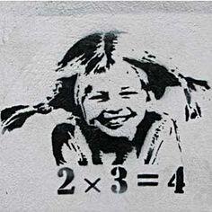"Picture on Canvas ""Banksy Graffiti"" Art Print Street Art Pipi Longstocking Banksy Graffiti, Bansky, Stencils, Stencil Art, Stencil Graffiti, Pippi Longstocking, Anarchy, Public Art, Urban Art"
