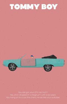 Tommy Boy ~ Minimal Movie Poster by Jarrod Joachim Minimal Movie Posters, Minimal Poster, Excellent Movies, Good Movies, Love Movie, Movie Tv, Beer Humor, Game Room Decor, Tommy Boy