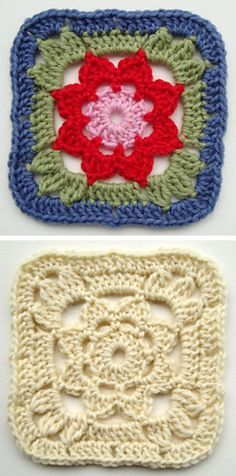 Crochet Squares Granny Patterns TOP 10 Free Crochet Granny Square Patterns - If you love crocheting then you must love granny squares! They are so versatile and flexible. Granny Square is actually a kind of patch-working in crochet Crochet Motifs, Crochet Blocks, Granny Square Crochet Pattern, Crochet Squares, Crochet Granny, Granny Squares, Crochet Stitches, Plaid Au Crochet, Love Crochet