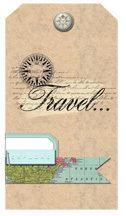Free Digital Embellishments   Vintage Map Tags and Brads