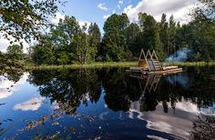 Completed in 2016 in Estonia. Images by Tõnu Tunnel        . Floating structure Veetee (Water Way) was created in 2016 during a ten-day summer school titled 5th Season: Wilderness, organised by Estonian Academy...