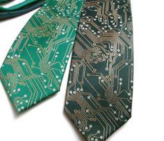 Circuit Board Necktie (Geek Chic)