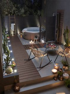 23 Backyard Patio Ideas That Will Amaze & Inspire You 18 Find inspirations to plan and beautify your backyard design. These backyard patio ideas will help you to make your backyard pretty and comfort. Backyard Patio Designs, Backyard Landscaping, Landscaping Ideas, Pergola Ideas, Backyard Pools, Backyard Lighting, Pool Decks, Pergola Diy, Terrace Ideas