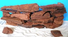 Flat Stacking Stone Slate Ledge Pile Aquarium CAVE KIT 10 pieces RARE Red Color #ThirdPlanetTreasures