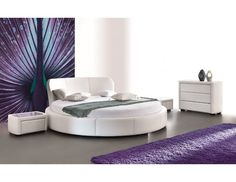 Product Dimensions: Height: 91 cm Width: 257 cm Length: 267 cm Bed without mattress Mattress - Material - faux leather Material - fabric Wide selection of fabrics, leather and colours Bed Without Mattress, Sofas Relax, Retro Bed, Tv Beds, Floating Bed, King Size Bed Frame, Round Beds, Lit Simple, Leather Bed