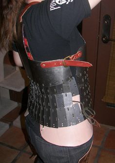 More about my armor making here: www.morgandonner.com/2010/12/making-lamellar-plates/ and here www.morgandonner.com/2010/12/lamellar-continued-and-a-c-b...