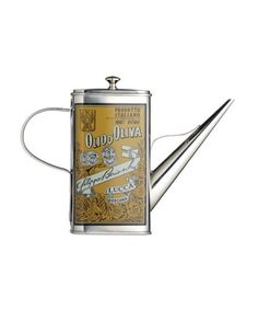 italian collection stainless steel oil can drizzlers