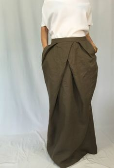 ca5ce2e31 Linen Women Skirt / Long Loose Linen Skirt / Oversize Summer Maxi Skirt  with Pockets / EXPRESS SHIPPING / MD 2009