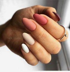 Nail Shapes - My Cool Nail Designs Fall Acrylic Nails, Acrylic Nail Designs, Aycrlic Nails, Hair And Nails, Oval Nails, Coffin Nails, Nail Ring, Fire Nails, Minimalist Nails