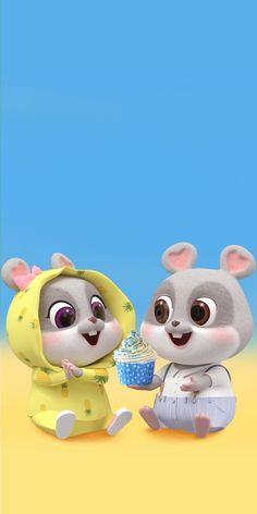 Dog Wallpaper Iphone, Rabbit Wallpaper, Chibi Wallpaper, Cute Girl Wallpaper, Cute Disney Wallpaper, Cute Bunny Cartoon, Cute Love Cartoons, Cute Cartoon Animals, Cute Little Animals