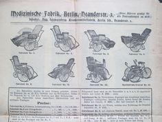 wunderschöne uralte Werbung RARITÄT Faltblatt OPERATIONS-SOFA KRANKENMÖBEL uvm. 4