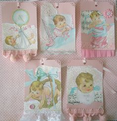 vintage styles baby tags | Flickr - Photo Sharing!