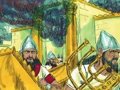 God writes on the wall His judgement of King Belshazzar. (Daniel 5:1-31): Slide 3