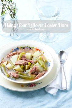 It's easy to use up your leftover ham from Easter in this 3 ingredient, delicious soup! ohsweetbasil.com
