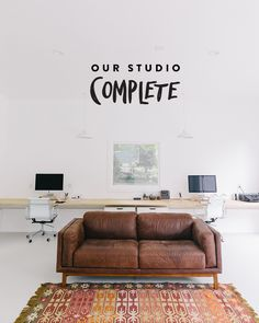 The Fresh Exchange Home Studio, Studio Spaces, Floating Desk, White Rooms, Guest Bedrooms, Creative Studio, Better Homes, The Fresh, Home Living Room