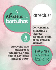 Campanha Criada pela Agência Conceito para chamar as clientes para tomar um Chimarrão na Loja Arrepius.