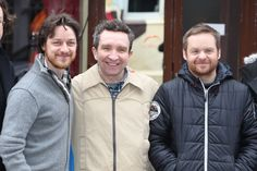 'Filth' - James McAvoy with co-star Eddie Marsan and director Jon Baird in Hamburg, Germany on March 11, 2012