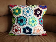 African Flower pillow