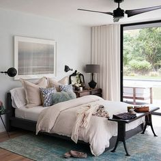 Bedroom - guest? Like the bench at the foot of the bed + bigger side table w/ drawers.