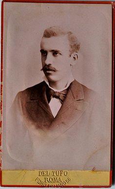 FOTOGRAFÍA CON DEDICATORIA Y FIRMA DEL ESCRITOR ERCOLE MORENI, AMIGO DE GEORGE SAND! 1881!!!!