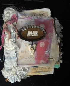 Life~art journal cover with vintage tart tin