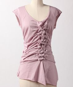 Take a look at this Keepsake Lilac Swept Aside Top by Down East Basics Women on #zulily today!