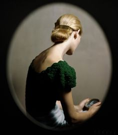 """Frances McLaughlin-Gill for Vogue, 1946.. (Also, this picture is used as the cover art for the wonderful novel, The Piano Teacher."""""""