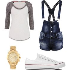 Untitled #5 by chloe-simpson99 on Polyvore featuring polyvore, fashion, style, maurices, Converse and Michael Kors