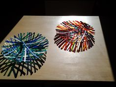 2 glass bowls made by Jacoba Roessen - van Basten