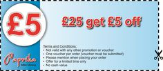 Spend £25 and Get £5 off
