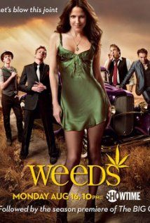 """Gotta love this. The cast of """"Weeds"""" is phenomenal as is the writing by Jenji Kohan. Love Hunter Parrish, Justin Kirk, Elizabeth Perkins, Kevin Nealon, and of course Mary-Louise Parker and (the deliciously handsome) Romany Malco! Movies And Series, Best Series, Movies And Tv Shows, Comedy Series, Mary Louise Parker, Weed Posters, Film Posters, Season Premiere, Great Tv Shows"""