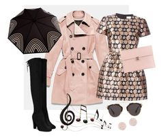 """Singing in da rain"" by cyndobah ❤ liked on Polyvore featuring Coach, RainDance, RED Valentino, Christian Dior, Alexander McQueen, Swarovski, Benzara, women's clothing, women and female"