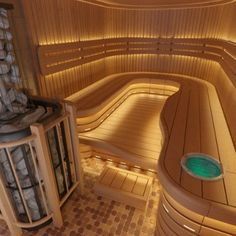 You're able to come across all our saunas by size and saunas by the brand on the site for effortless access and finding what you're looking for. If you put in a sauna in your house, thi… Saunas, Diy Sauna, Sauna Ideas, Sauna Steam Room, Sauna Room, Spa Design, Design Ideas, Sauna Lights, Sauna Seca