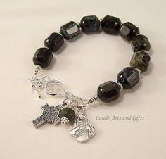 Rosary Bracelet Irish Celtic Sacred Heart  by LaudeArtsandGifts, $24.50