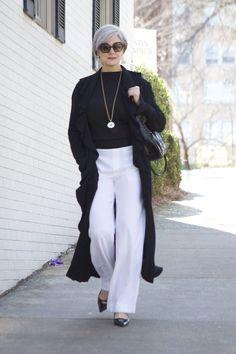 5648b42d07e Femme Mode et Moderne à 50 ans   20 looks qui enlèvent 10 ans 50 Mode