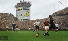 """Opening moments of the 1954 World Cup Final, """"Miracle of Bern"""", played at the Wankdorf Stadium in Bern, Switzerland"""