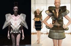 [L] Escapism collection (2011); [R] Chemical Crows collection (January 2008)-Iris van Herpen