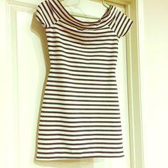 Zara striped mini Size M Zara striped mini. Cowl neck dress. Size M. Never used. New without tags. trades Zara Dresses Mini