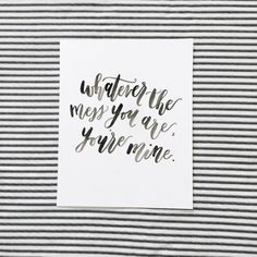 Original Handmade Calligraphy Quote Print by JNLettering on Etsy $12