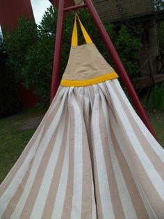 Hamaca colgante de madera dura y lona color a elecci n - Hamacas de madera y lona ...