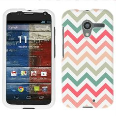 Amazon.com: Motorola Moto X Chevron Peach Pink Green Red Pattern Phone Case Cover: Cell Phones & Accessories