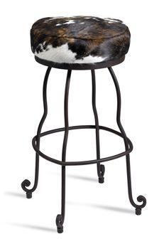 cowhide barstool Southwestern Furniture-Old Hickory Furniture-Rustic Ranch Style Furniture Old Hickory Furniture, Rustic Furniture, Furniture Decor, Rustic Design, Industrial Design, Diy Design, Western Decor, Rustic Decor, Ranch Decor