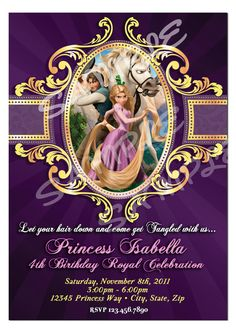 Tangled Invitation  Tangled Birthday Invitation by artisacreations, $12.00