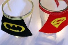 How to make Superhero Glass Capes - great for a superhero party